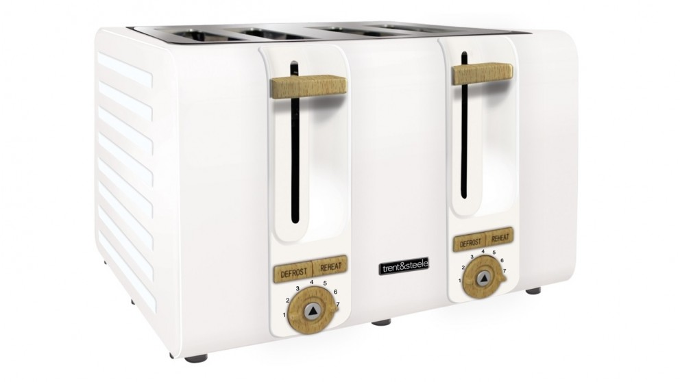 Trent and Steele Lagom Collection 4 Slice Toaster - White