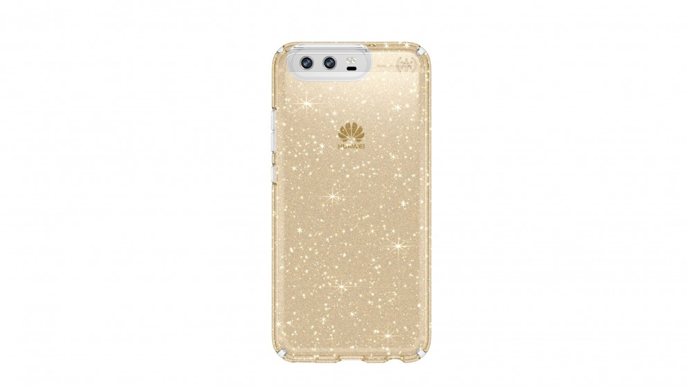 half off 8a1f3 bbcc1 Speck Presidio Clear Glitter Case for Huawei P10 - Gold