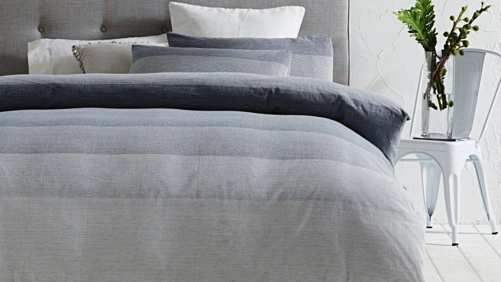 Bass Blue Single Quilt Cover Set