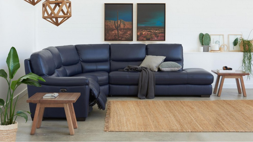 Studio Powered Leather Recliner Corner Sofa