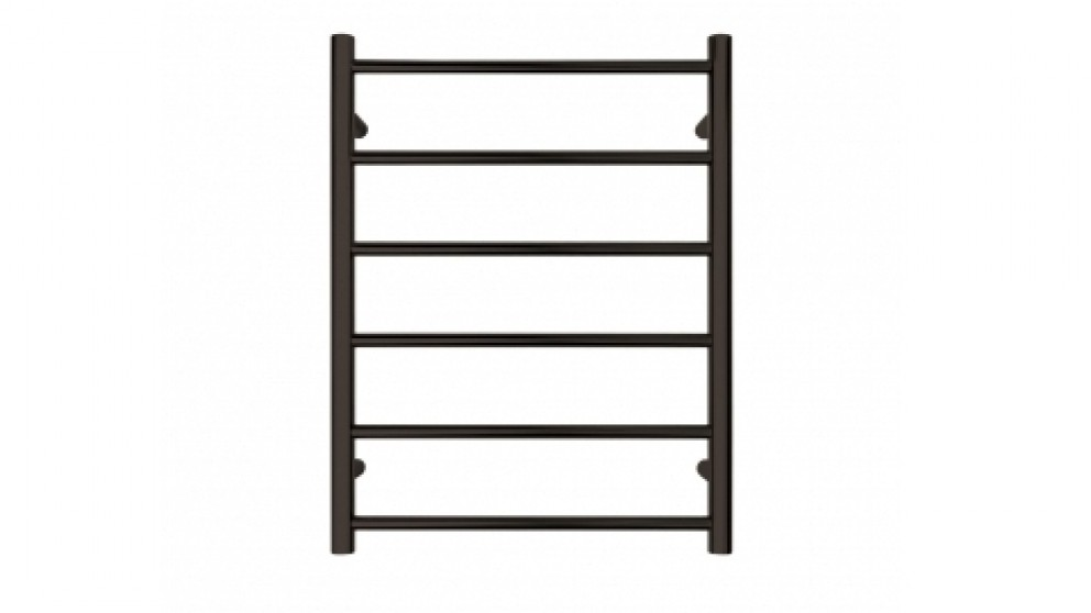 Forme 6 Bar Non-Heated Towel Rails - Black