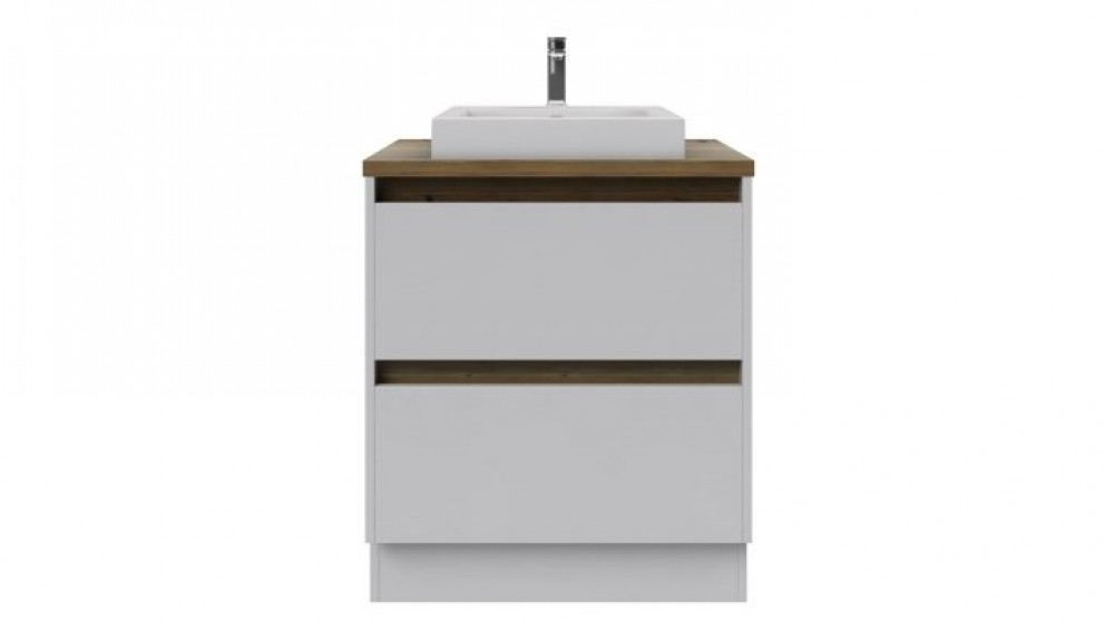 Rifco Infinity 900mm Double Drawer Kick with Blackbutt Top Vanity