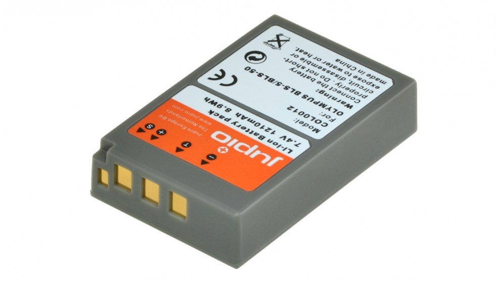 Jupio Olympus BLS-5/PS-BLS5 1620mAh Battery