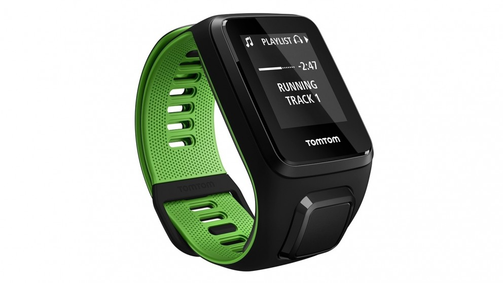 TomTom Runner 3 Cardio and Music Large Activity Tracker Watch - Black/Green