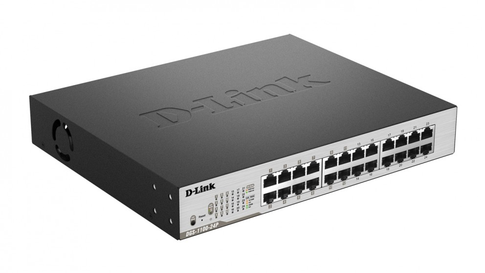 D-Link 24-Port Gigabit EasySmart PoE Switch