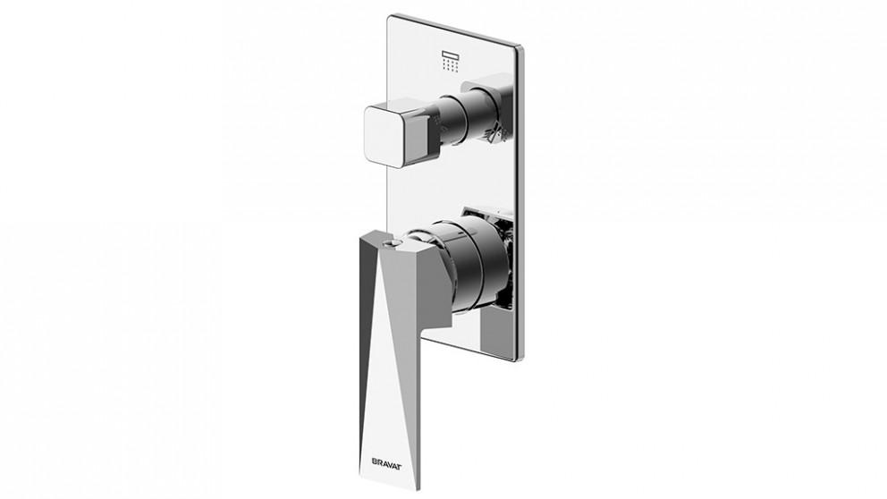 Buy Bravat Diamond Shower/Bath Mixer with Diverter - Chrome | Harvey ...
