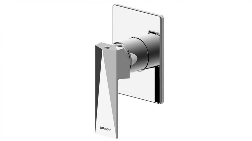 Bravat Diamond Shower/Bath Mixer - Chrome