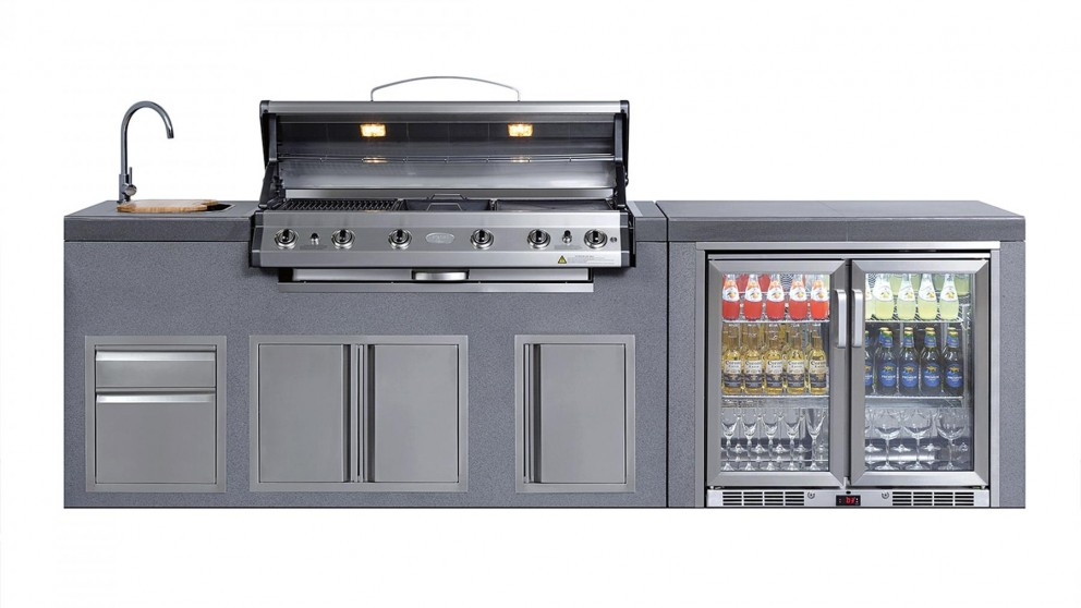 Superb Neo Kitchen 6 NG Burner Island Module BBQ