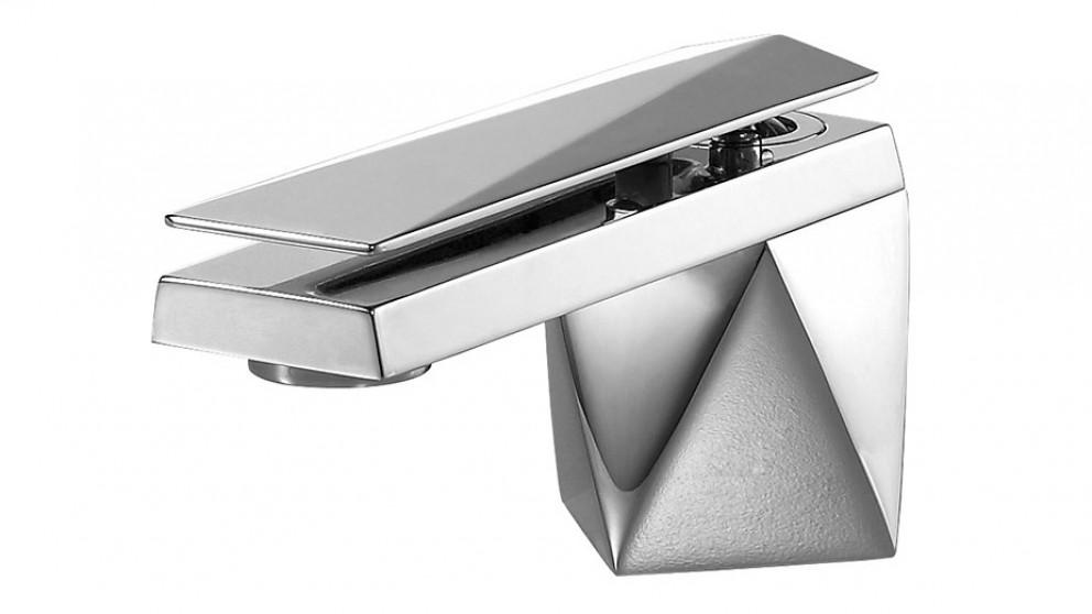 Bravat Diamond Low Rise Basin Mixer - Chrome