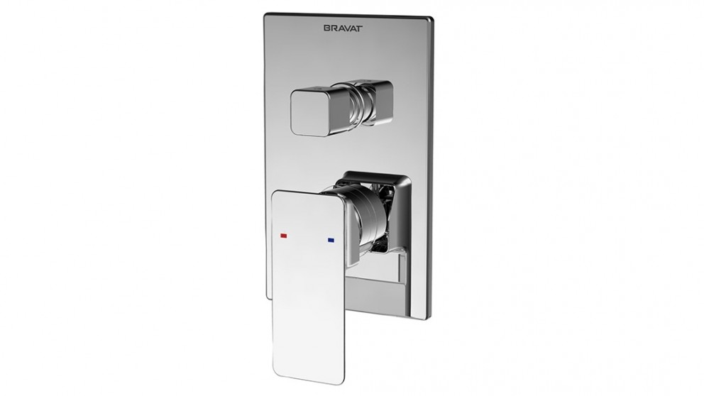 Bravat Phillis Shower/Bath Mixer with Diverter - Chrome