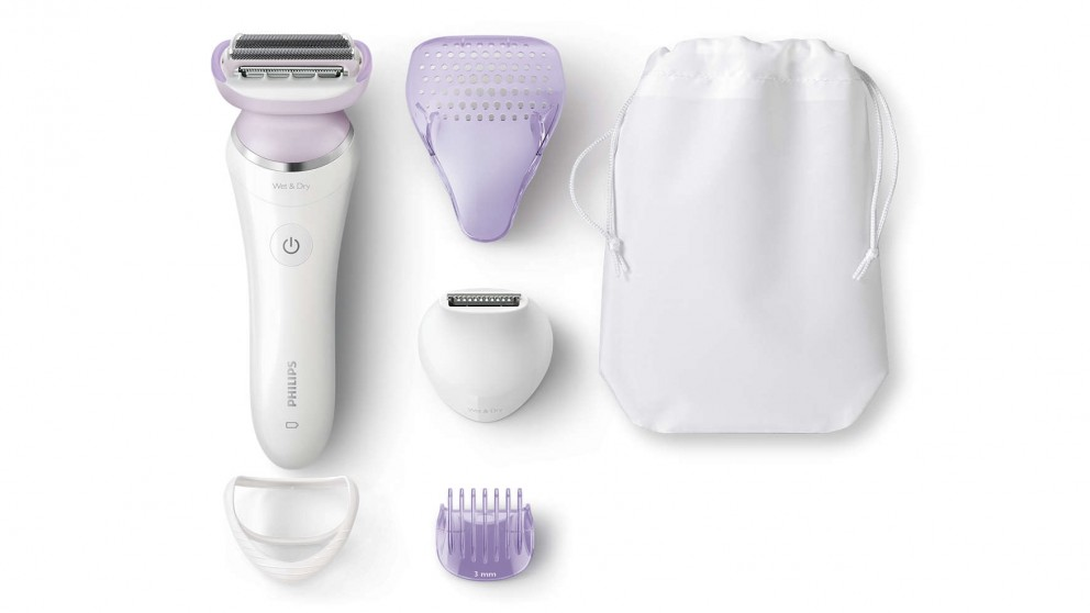 Philips SatinShave Prestige Wet and Dry Electric Shaver - White/Purple