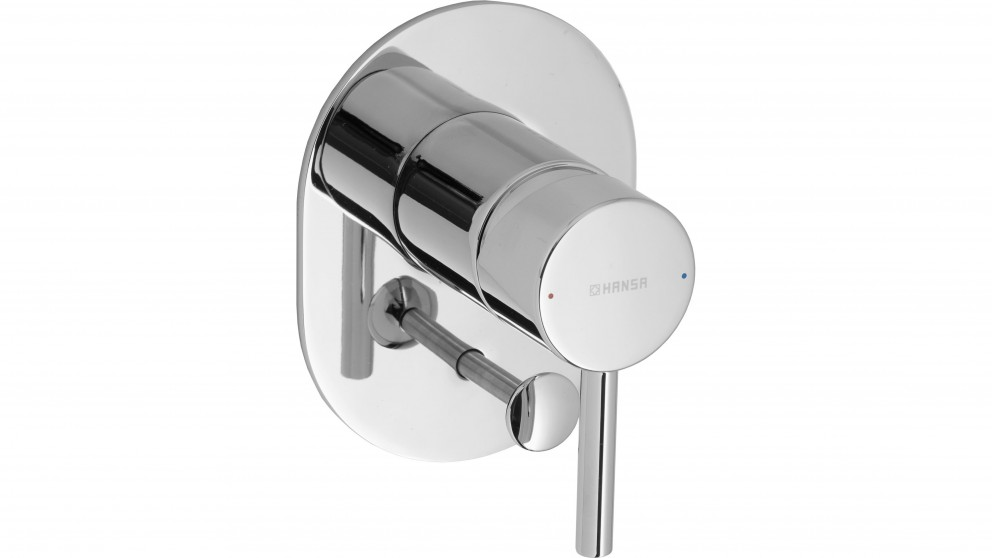 Hansa Vantis Oval Shower or Bath Mixer with Diverter with In-Wall Body