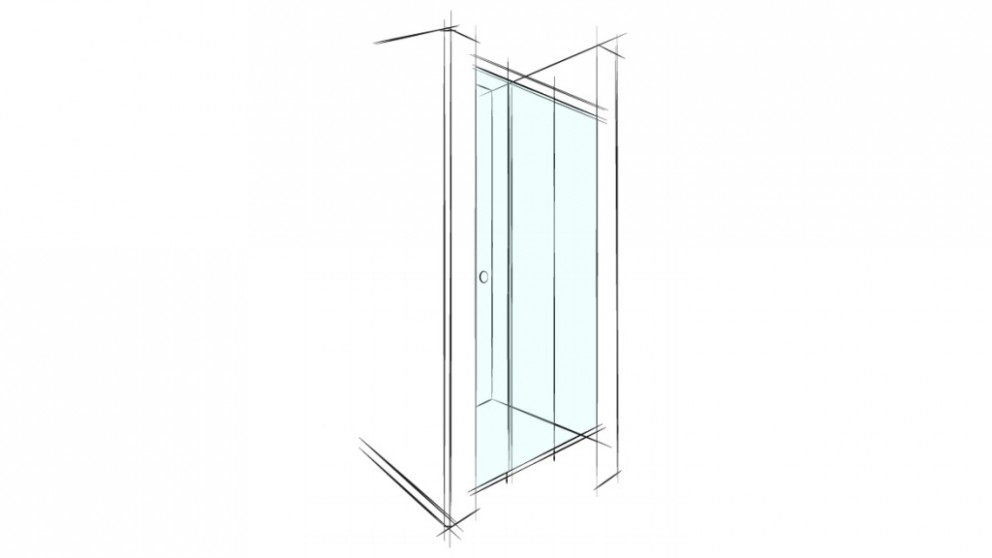 Verotti Xpace 1600mm Wall to Wall Shower Screen - Clear