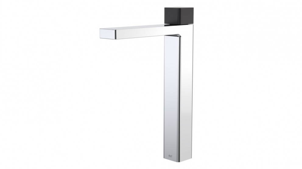 Dorf Epic Bloc Progressive Tower Basin Mixer - Chrome/Matte Black