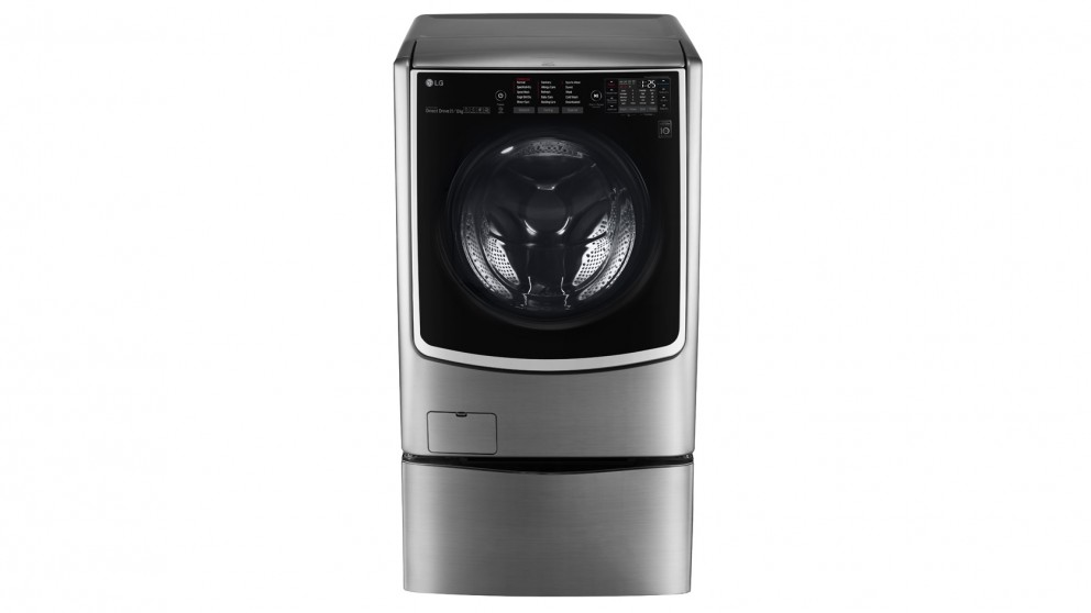 LG Twin Wash 16kg/9kg Front Load Washer and Dryer Combo with 2.5kg Mini Washer