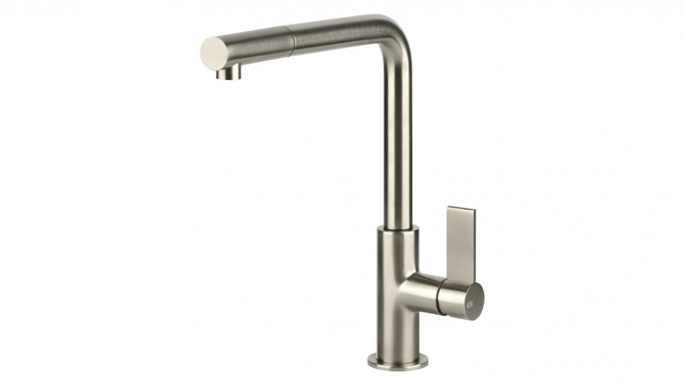 Gessi Emporio Pull Out Spout Kitchen Mixer - Brushed Nickel