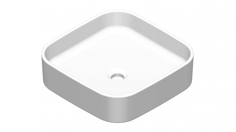 Grace Square Countertop Basin without Tap Hole