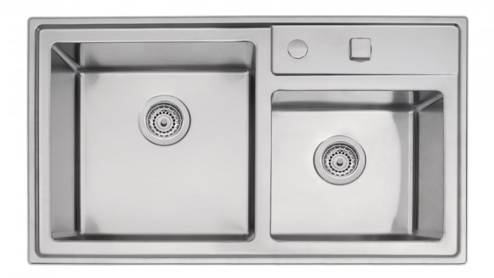 Linsol Quadrum 40 Double Bowl Top Mount Sink