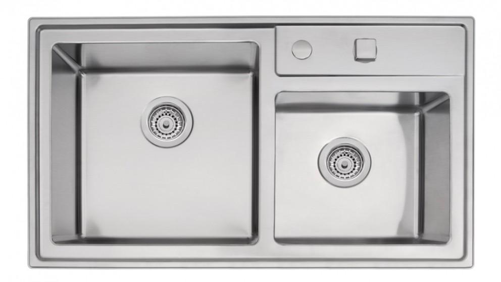 Linsol Quadrum 40 Double Bowl Top Mount Sink