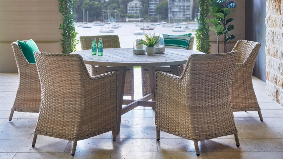 Florence 7 Piece Round Outdoor Dining Setting Part 57