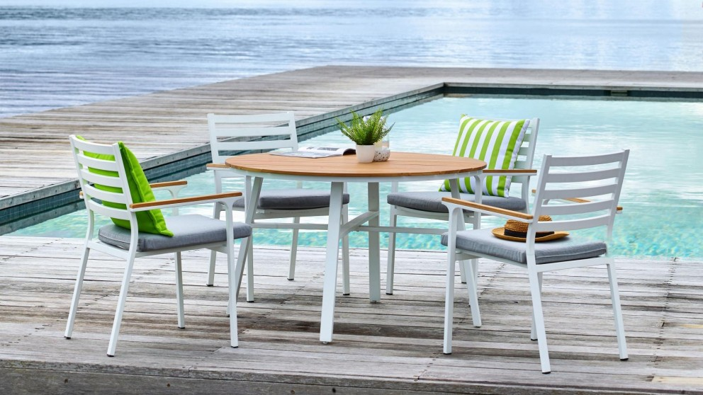 Buy Concorde 5 Piece Round Outdoor Dining Setting | Harvey Norman AU