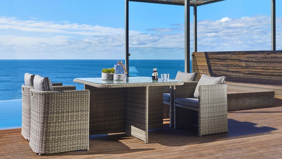 Buy Millard 5 Piece Outdoor Square Dining Setting | Harvey Norman AU