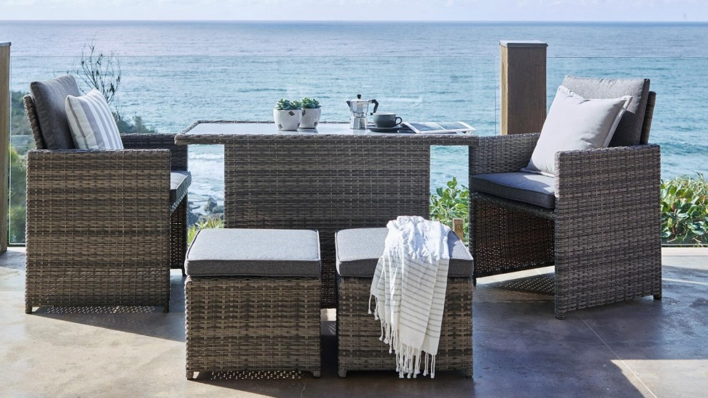 Buy Mours 5 Piece Outdoor Rectangular Dining Setting | Harvey Norman AU