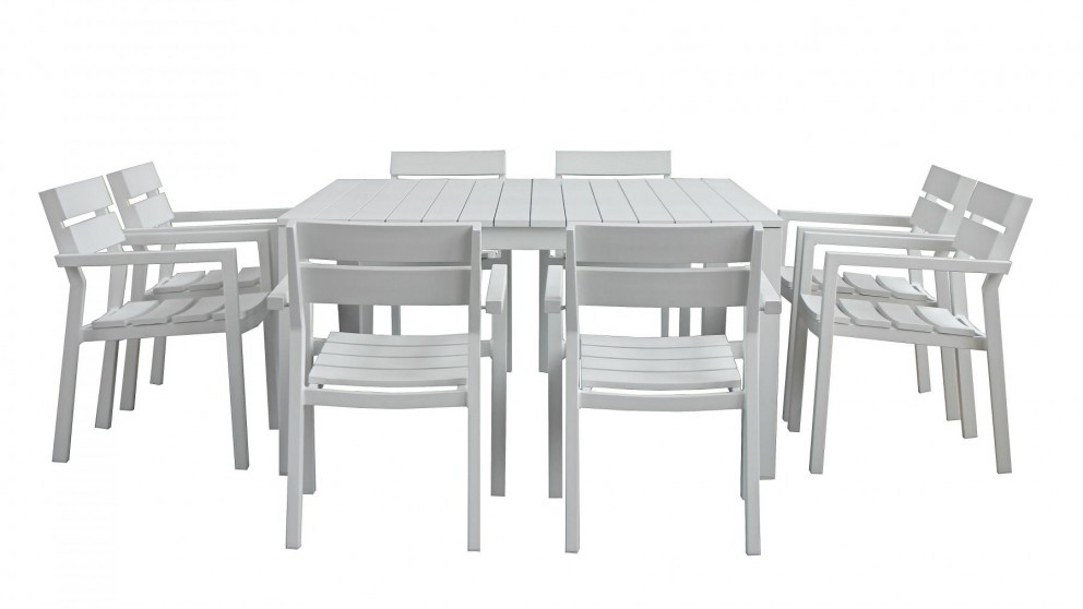 buy quay 9 piece outdoor square dining setting harvey