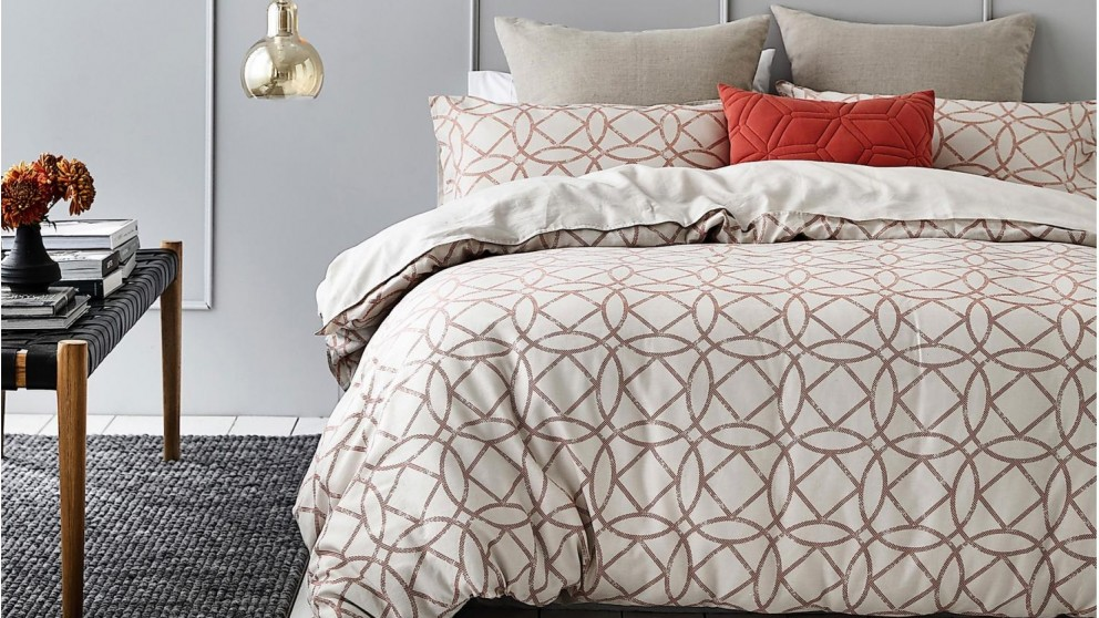 Marais Rust Quilt Cover Set
