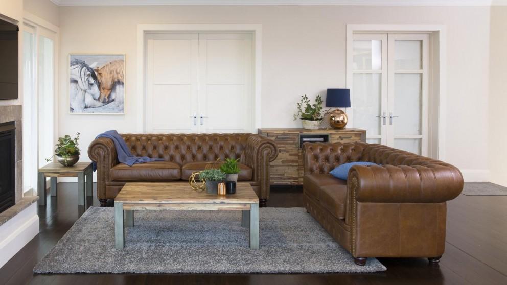 Bailey 3 Seater Leather Sofa