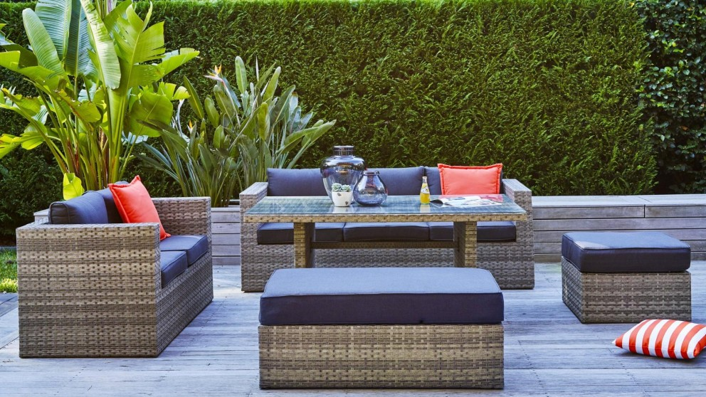 Valletta 5-Piece Outdoor Rectangular Lounge Dining Setting