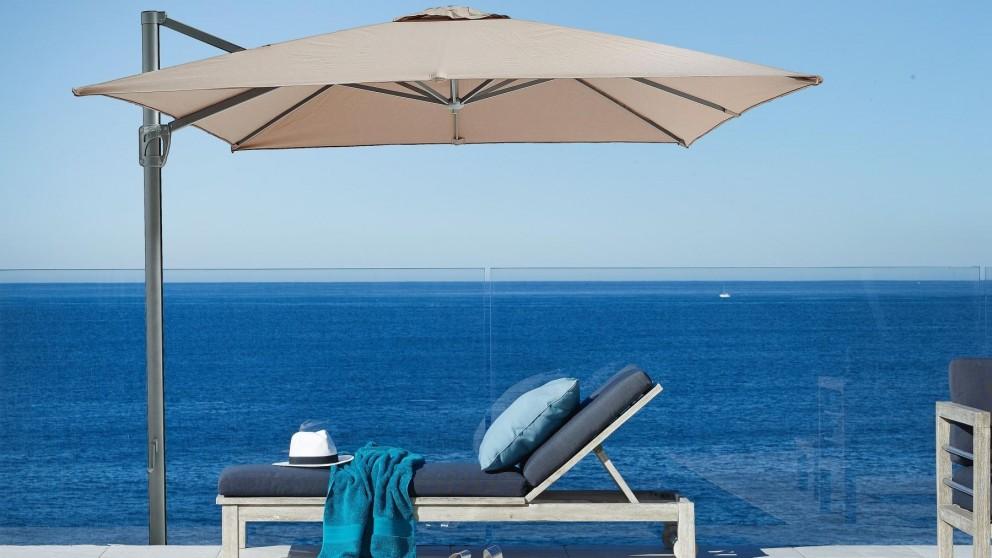 Pampa 3m Square Cantilever Outdoor Umbrella