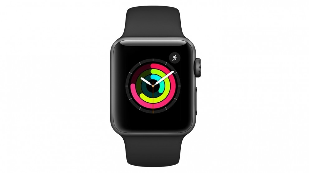 separation shoes 1d02f 10ad5 Apple Watch Series 3 GPS - Space Grey Aluminium Case with Black Sport Band  42mm