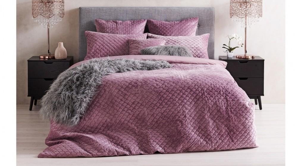 Piper Blush Velvet Quilt Cover Set