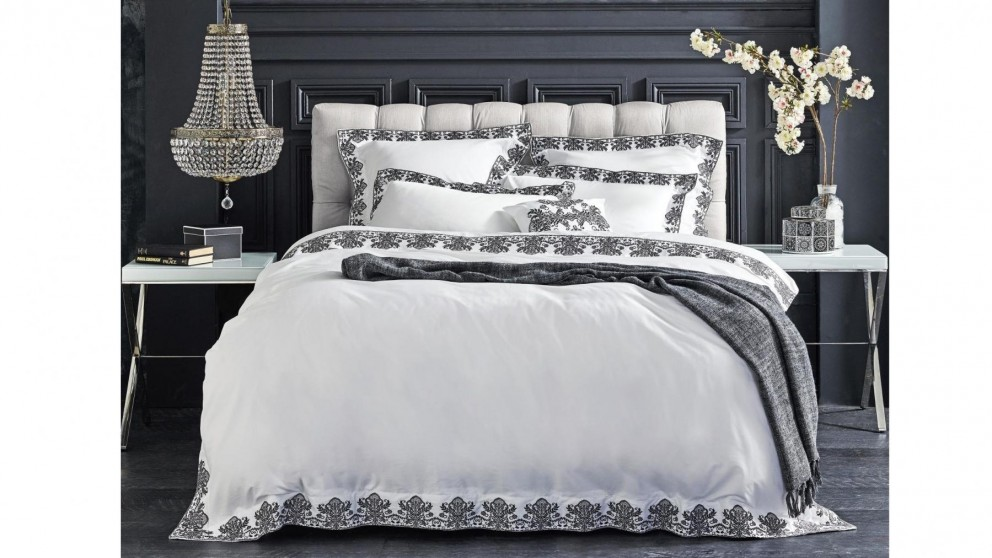 Serenity Charcoal Quilt Cover Set