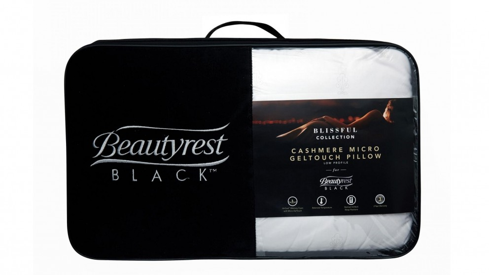 Beautyrest Black Gel Memory Foam Low Pillow