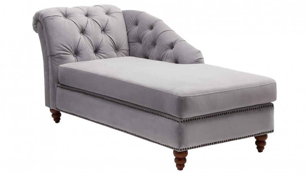 Etienne Bedroom Chaise - Grey