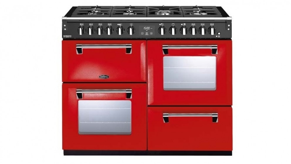 Belling 1100mm Richmond Deluxe Dual Fuel Range Cooker - Red