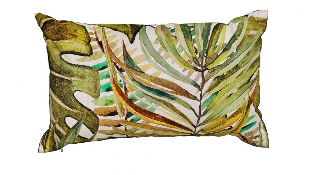 Monstera Rectangular White Outdoor Cushion
