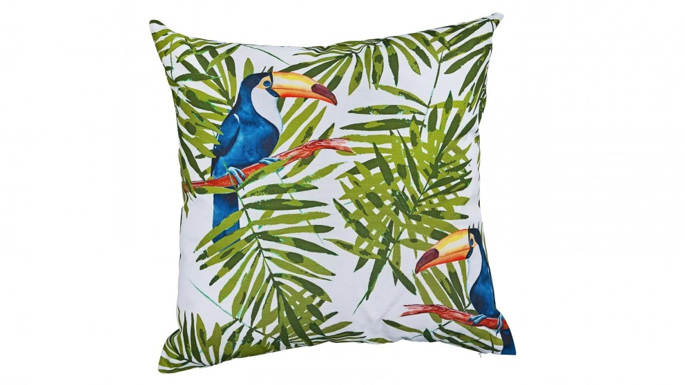 Toucan Pair Square Outdoor Cushion