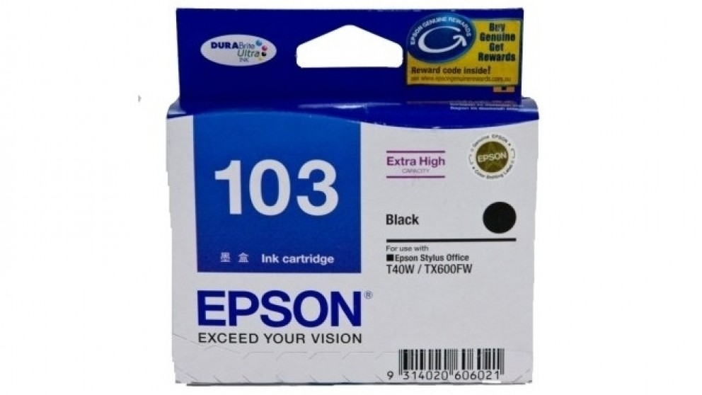 Epson 103 Extra High Capacity DURABrite Ultra - Black Ink Cartridge