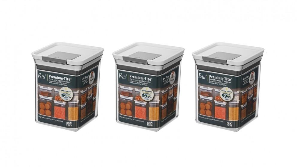 Felli Premium-Tite 1.8L Large Storage Container - 3 Pack