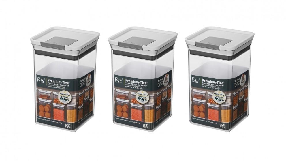 Felli Premium-Tite 2.4L Large Storage Container - 3 Pack