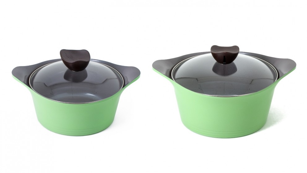 Neoflam Nature Casserole Induction with Glass Lid - Apple Green
