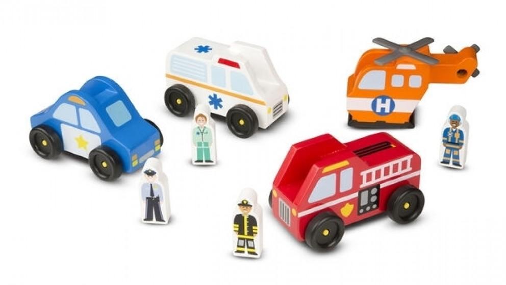Melissa and Doug Emergency Vehicle Set