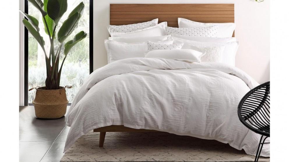 Baja White Quilt Cover Set