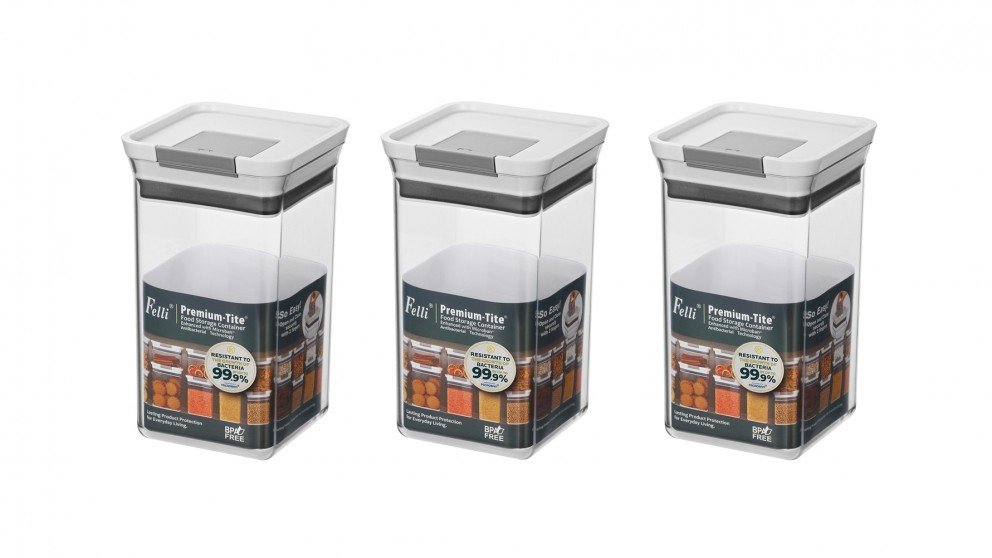 Felli Premium-Tite 1.4L Small Storage Container - 3 Pack