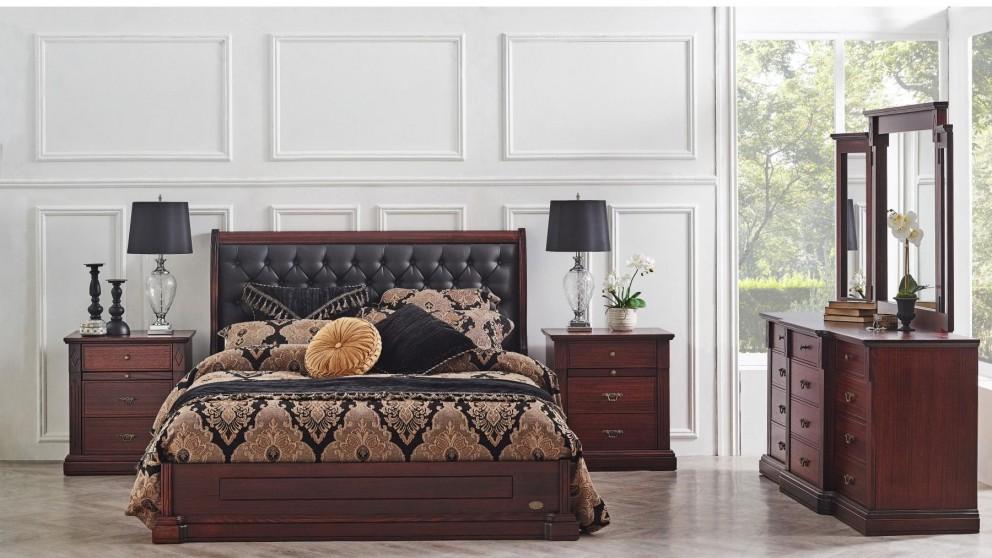 Charlotte Queen Bed With Doona Foot, Charlotte Queen Bed