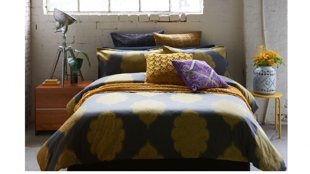 Banaras Gold Queen Quilt Cover