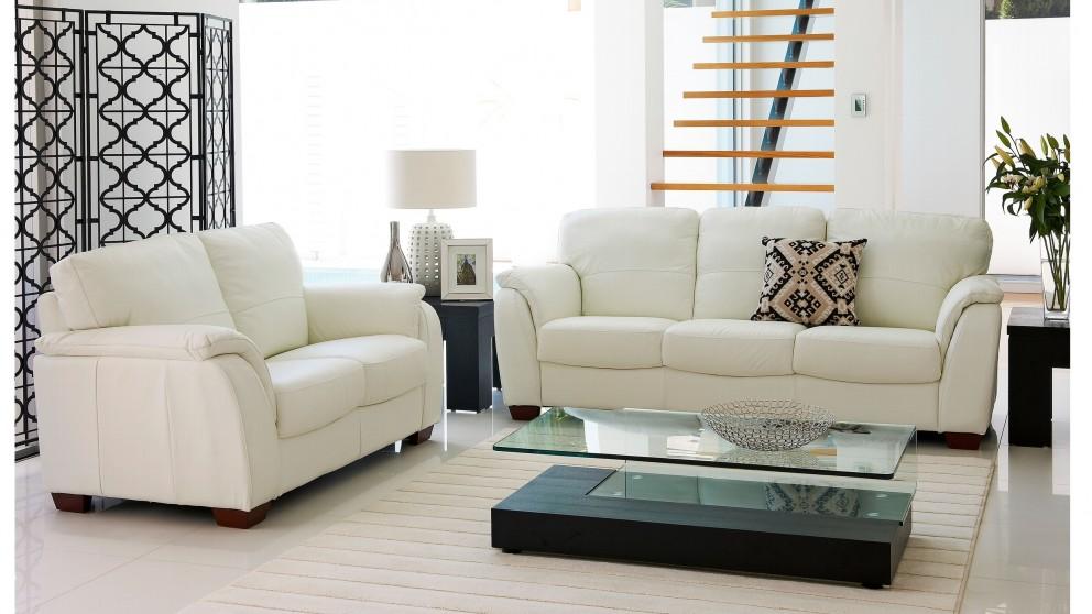 Buy Alyssa 2 Piece Leather Lounge Suite   Harvey Norman AU